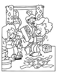 Sinterklaas En Zwarte Piet Kleurplaat Huis Piet Sinterklaas