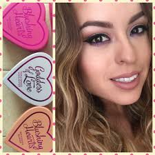 makeup revolution i love makeup triple baked highlighters blushing hearts review and swatches you