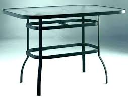 glass top patio table furniture bar outdoor 42 round