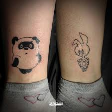 фото татуировки винни пух и пятачок в стиле минимализм татуировки