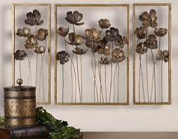 large floral metal wall art