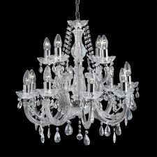 searchlight 399 12 marie therese 12 light traditional crystal chandelier polished chrome