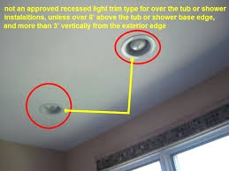 astounding can lights in bathroom shower ceiling light fixture not an approved recessed lights trim type
