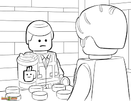 Small Picture The LEGO Movie Coloring Page LEGO Emmet Orders 37 Coffee from