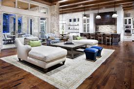 rustic modern living room furniture. Country Modern Furniture. Large Rustic Living Room Design With White Chaise Lounge Sofa Bed Furniture