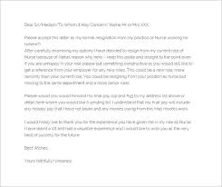 nursing resignation letter template –   free word  excel  pdf    the relocation nursing resignation letter template is a simple resignation letter that does not use any format  the resignation letter template simply