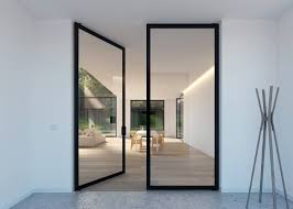 Double glass pivot door - Portapivot 6530