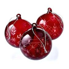 red glass ornaments red glass ornaments etched set of 6 tree hand painted blown small red