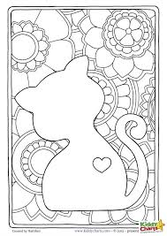 Small Picture Free cat mindful coloring pages for kids adults Cat Adult