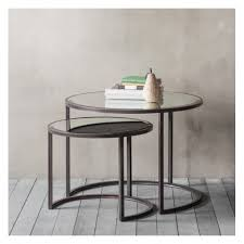 mid century modern stacking tables round wood nesting tables round coffee table nest modern wood nesting tables round glass side table