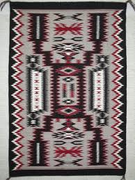 navajo storm pattern rug by native american navajo indian weaving artist ruby van winkle