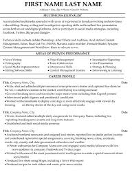 Multimedia Journalist Resume Sample & Template