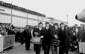 """Image result for their first number one hit in the U.S., """"I Want to Hold Your Hand,"""" was met by over 3,000 screaming fans at New York's Kennedy Airport."""