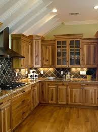 Kitchen Counter And Backsplash Ideas Best Kitchen Decor Ideas Rustic Kitchen Hickory Cabinets Wood Floor Tile