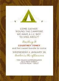 Camping Baby Shower Invitation Camper Baby Shower InvitesCamping Themed Baby Shower Invitations