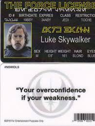 License Of com Amazon Hamill amp; Star Games Toys Luke The Drivers Wars Id Fake Fun Skywalker Force Mark Card
