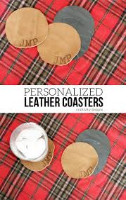 how to make a personalized leather coaster set gift for him 12 days of