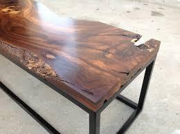 Black Walnut Coffee Table Black Walnut Slab Welded Base Luma Works
