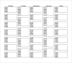 Class Schedule Excel Template Download Sample Class Schedule 8 Documents In Pdf Word