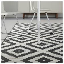 white rug. ikea lappljung ruta rug, low pile white rug