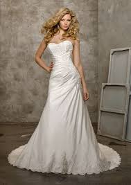 luxe taffeta and lace wedding dress style 4202 morilee