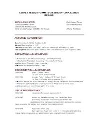 College Resume Format – Rekomend.me