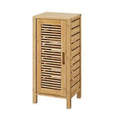bamboo bath furniture. Linon Home Bracken Bamboo 1-Door Cabinet Bath Furniture I