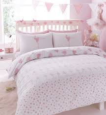 ballerina ballet dancer bed set featuring dancing ballerinas and pink hearts duvet cover pillow case set single co uk kitchen home