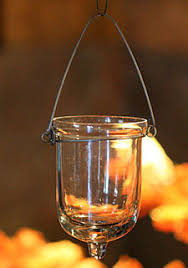 Hanging Glass Tealight Holder Set of 6 - 3 Inches