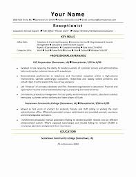 Sample Resume Law Firm Receptionist Elegant Resume Examples For