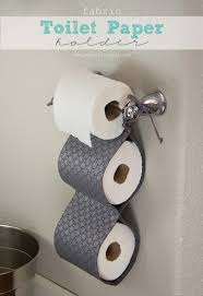 fabric toilet paper holder a great space saver make it and