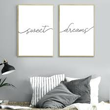 black and white pictures for bedroom bedroom wall art canvas painting posters and prints sweet dreams