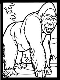 Lachende Gorilla Kleurplaat Gratis Kleurplaten Printen