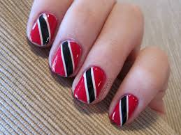 Trinidad Flag Nail Design 31dc2016 Day 28 Inspired By A Flag
