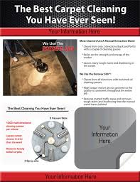 carpet cleaning flyer rotovac home business brochures