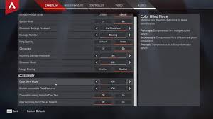 How To Enable Color Blind Mode Apex Legends