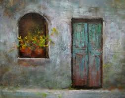 old door original painting by ist justin clements