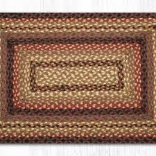 black cherry chocolate cream braided jute rectangle area rug 371