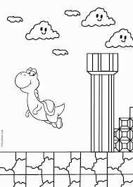 Mario And Yoshi Coloring Pages To Print Color Bros