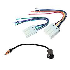 amazon com aftermarket car stereo radio receiver wiring harness aftermarket car stereo radio receiver wiring harness radio antenna adapter for select infiniti nissan vehicles