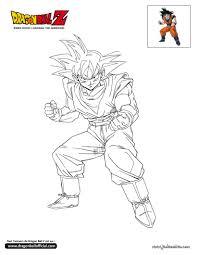 Colorier En Ligne Dibujos Pinterest Goku Colorier Et