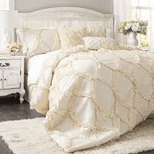 Ivory & Cream Comforter Sets | Joss & Main & 3-Piece Shelby Comforter Set. Ivory White Adamdwight.com