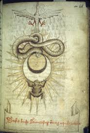 medieval alchemy distillatio harley 2407 toad and snake and sun