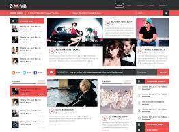 View Large Image Free Html5 Magazine Templates Website