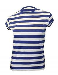 get ations new laswomen s blue white striped t shirt available in diffe sizes