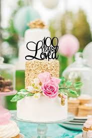 100th Birthday Cake Topper 100 Years Loved Birthday Cake Topper