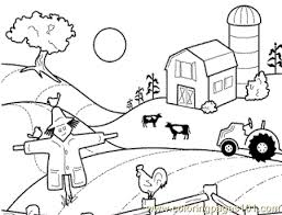 Small Picture Farm house Coloring Page Free Chicks Hens and Roosters Coloring