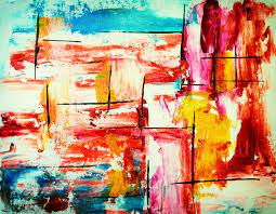 Multicolored Abstract Painting 4k ...