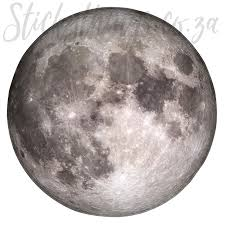 self adhesive round real moon wall sticker