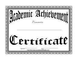 Academic Achievement Award 3 Certificate Templates Teachers